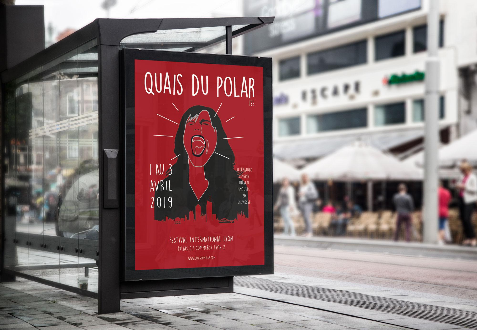station affiche Quais du polar