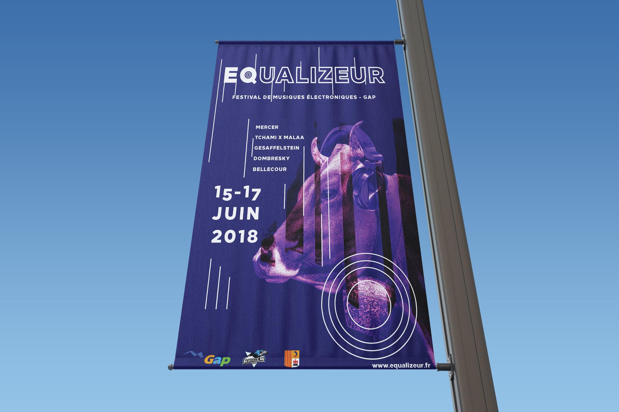 affiche drapeau festival de musique